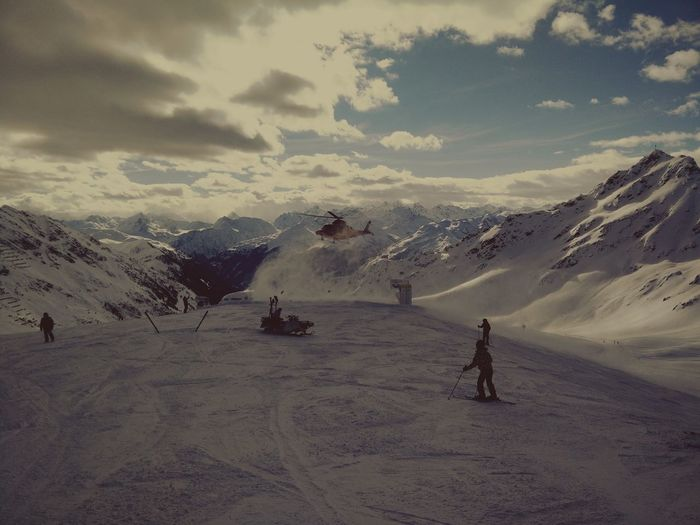 Snow Mountain Winter Extreme Sports Sky Beauty In Nature Winter Montafon Silvretta Montafon Skiing 🎿 Austria Nature Helicopter Flying Emergency Crash