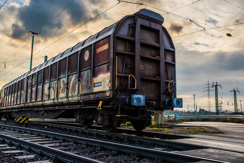 DB Cargo Cable Cloud - Sky Day Locomotive Mode Of Transport Nature No People Outdoors Public Transportation Rail Transportation Railroad Track Sky Steam Train Train - Vehicle Transportation