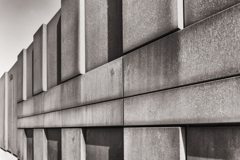 Low angle view of concrete wall