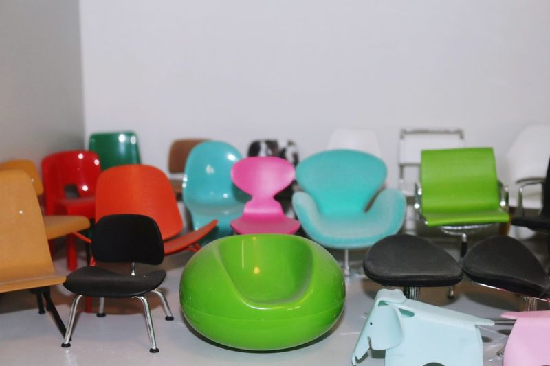 Multi colored chairs at home
