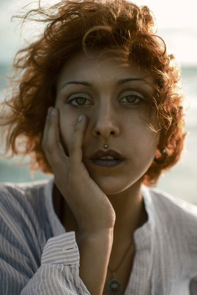 Portrait Woman Sea Sunset Face Ritratto Eyes Ostia Canon Redhair