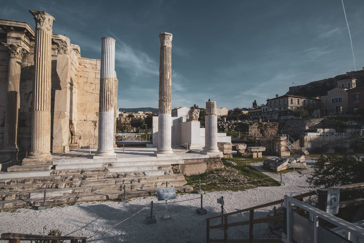 Athens Athens Greece Athens, Greece Architecture Built Structure History Sky The Past Ancient Architectural Column Building Exterior Nature Travel Destinations Cloud - Sky Ancient Civilization No People Travel Place Of Worship Old Ruin Tourism Day Building City Outdoors Archaeology Ruined