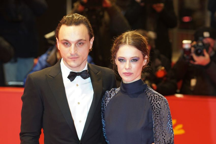 Berlin, Germany - February 17, 2018: German actors Franz Rogowski and Paula Beer pose on the red carpet for the premiere of 'Transit' at the 68th Berlinale film festival 2018 Artist Fame Famous Film Festival Interview Photocall Press The Media Arts Culture And Entertainment Berlinale Berlinale 2018 Berlinale2018 Entertainment Entertainment Event Film Industry Gala Mass Media Popular Posing Press Conference Red Carpet Red Carpet Event Two People