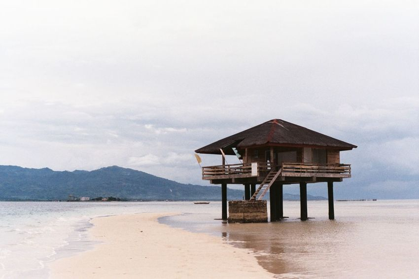 Momentary beauty Manjuyod Sandbar Bais Negros Oriental Philippines Travel Destinations Travel Film Photography 35mm Film Photography Outdoors Sea Nature Beauty In Nature Unfiltered Unedited Sea And Sky Cottage