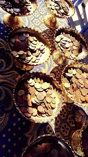 Philanthropy Budist Travel Nakhonpathom Thai Thailand Coin Coins