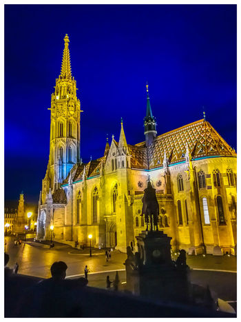 Matias Cathedral Travel Destinations Turistic Attractions Hungary Tredition Politics And Government City Illuminated Religion Government Place Of Worship Sky Architecture Building Exterior Built Structure Historic