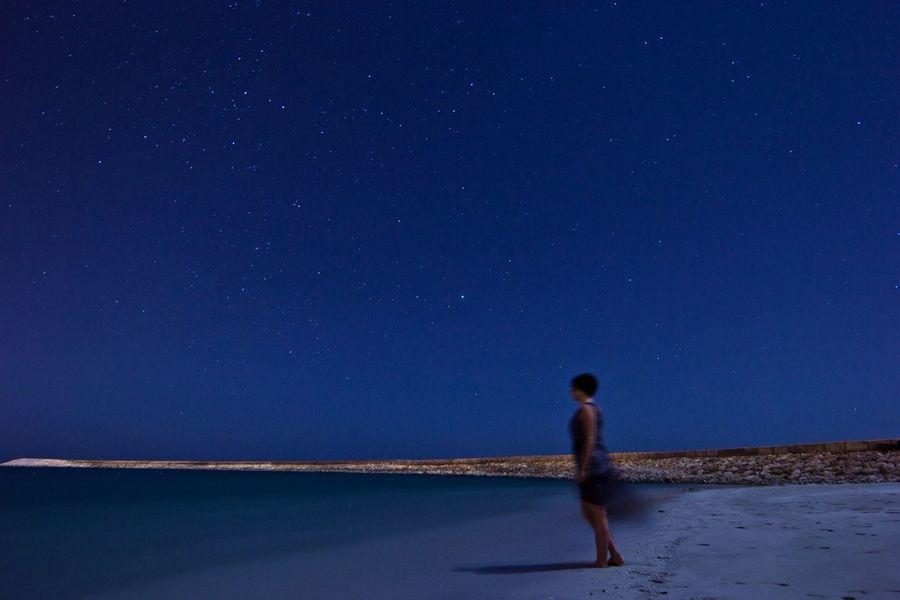 Hello World Nightphoto Salalah