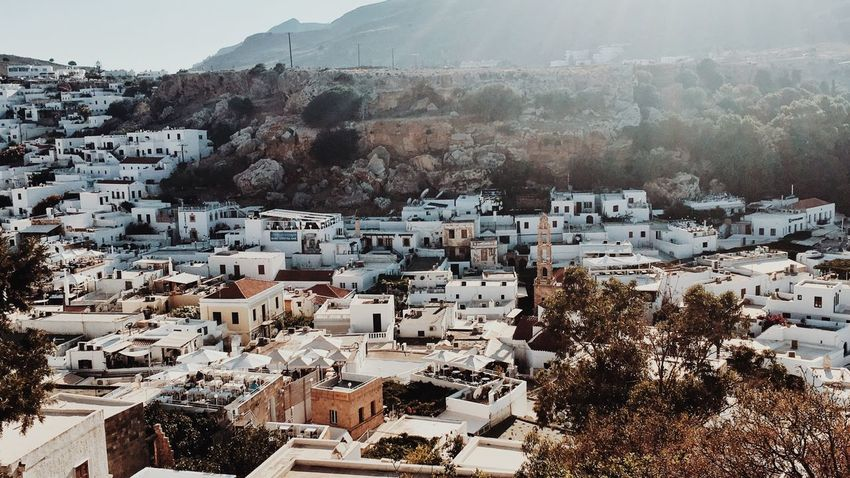 White Houses White Houses In Landscape Small City Sunlight Village Building Exterior Architecture Built Structure City Tree High Angle View My Best Travel Photo Outdoors House TOWNSCAPE Settlement Cityscape Mountain Day