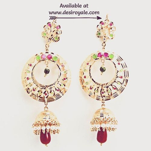 Link http://www.desiroyale.com/collections/earrings Check out our Beautiful Goldplated Earrings Bridal at www.desiroyale.com Freeshipping plus everything 20 % off for a limited time Desi Desiroyale Wedding Punjabi Picoftheday Photooftheday Indianbride Gorgeous Lovely Accessories Jewelry Buy Online  Shopping Loveit Lehenga Desiweddings Anarkali Sangeet Jago bride ruby pearls burningman desiweddings