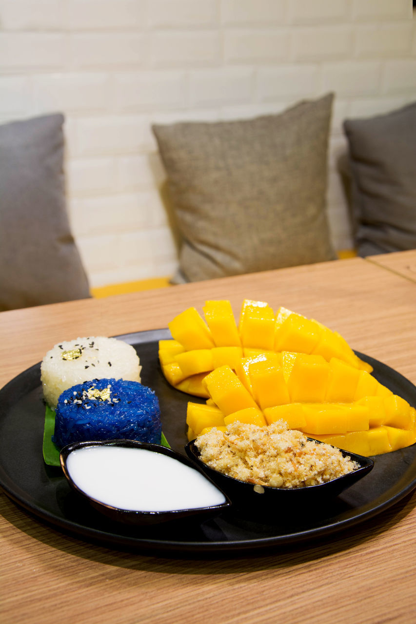 plate, indoors, food and drink, table, food, sofa, no people, freshness, sweet food, ready-to-eat, healthy eating, close-up, day