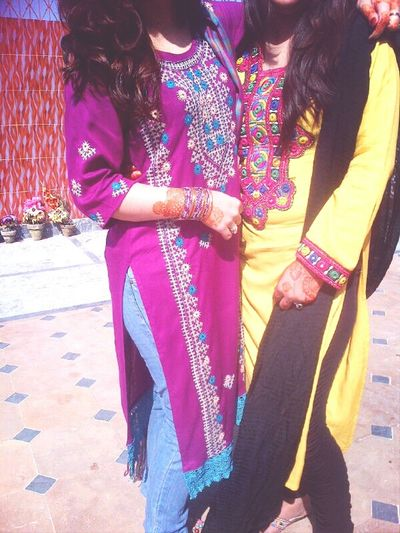 Eid's 2nd day dress Purple Dress:) with Cousin