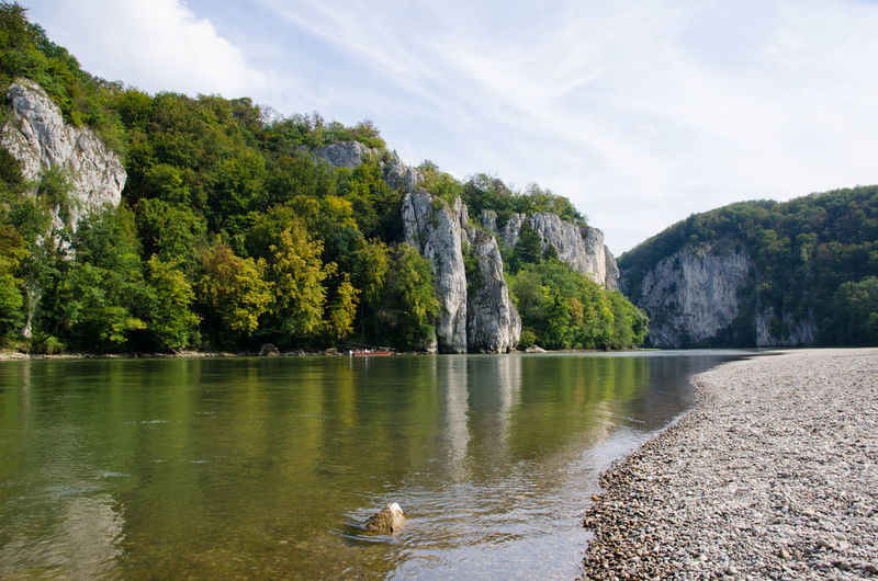 Autumn Bavaria Danube Donau Donauradweg Kloster Kloster Weltenburg Low Angle View Monastery Weltenburg Abbey Beauty In Nature Bicycle Bikepacking Danube Bike Path Day Fall Flowing Water Germany Mountain No People Outdoors Sky Tranquil Scene Water Waterfront