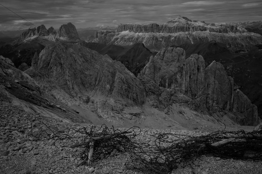 Mountains Monochrome Italy Ww1 Dolomites Rock - Object Nature Scenics No People Landscape Outdoors Tranquility