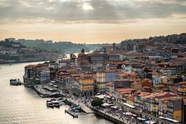 Building Exterior Architecture Built Structure City Cityscape Sky Building Mode Of Transportation Transportation Water Residential District Nautical Vessel Nature High Angle View Cloud - Sky Sunset Crowded River Travel Destinations Outdoors TOWNSCAPE Porto Portugal 🇵🇹 Porto