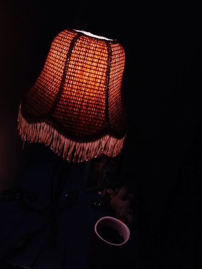 EyeEm Selects Indoors  No People Night Black Background Shades Lamp Close Up Photography Close-up Shot Darkphotography Indoors  Bedtime Coffee Cup EyeEmNewHere