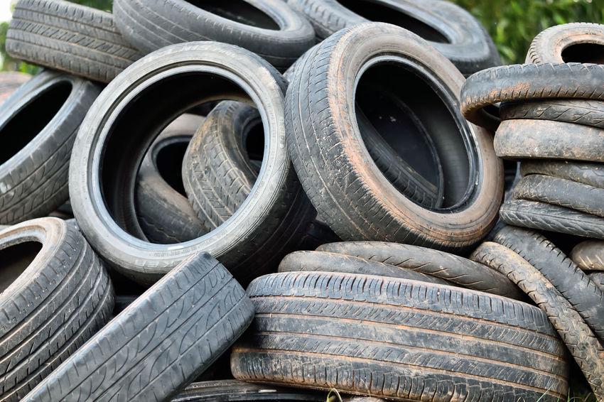 Garbage Old Tires Recycle Rubbish Scrap Used Used Tires Waste