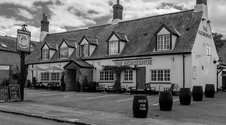 The Horseshoe, Lavendon, Buckinghamshire Buckinghamshire Buckinghamshire Pubs Architecture Monochrome Black And White Pubs