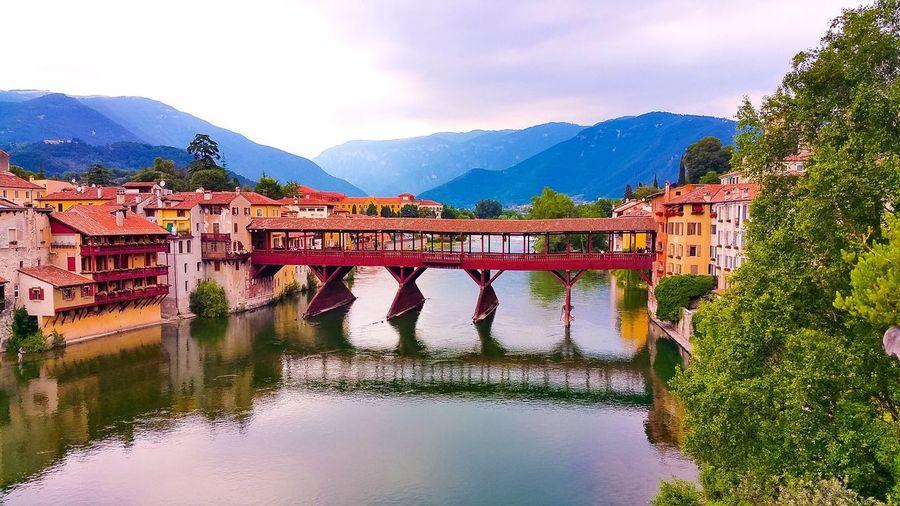 Scenic view of alpini bridge, italy