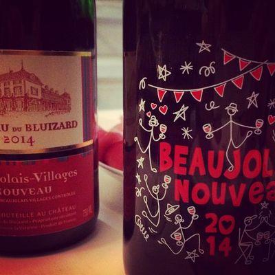 Il est la! BeaujolaisNouveauDay 👍🍷🍷 Wino Beaujolaisnouveau