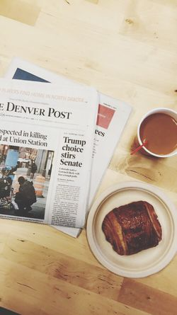 Morning Briefing Chocolate Croissant Coffee Denver