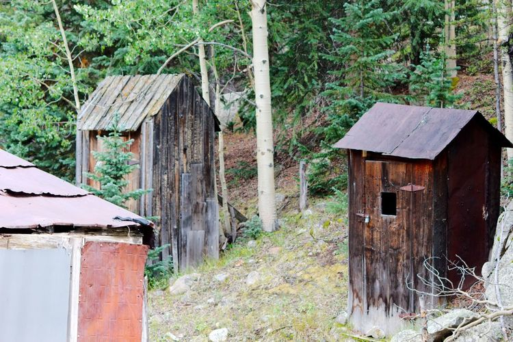 St. Elmo mining ghost town, Colorado Colorado Abandoned Architecture Building Exterior Built Structure Day Ghost Town House Mining Mining Town Nature No People Outdoors Outhouse Plant Shed Tree Wood - Material