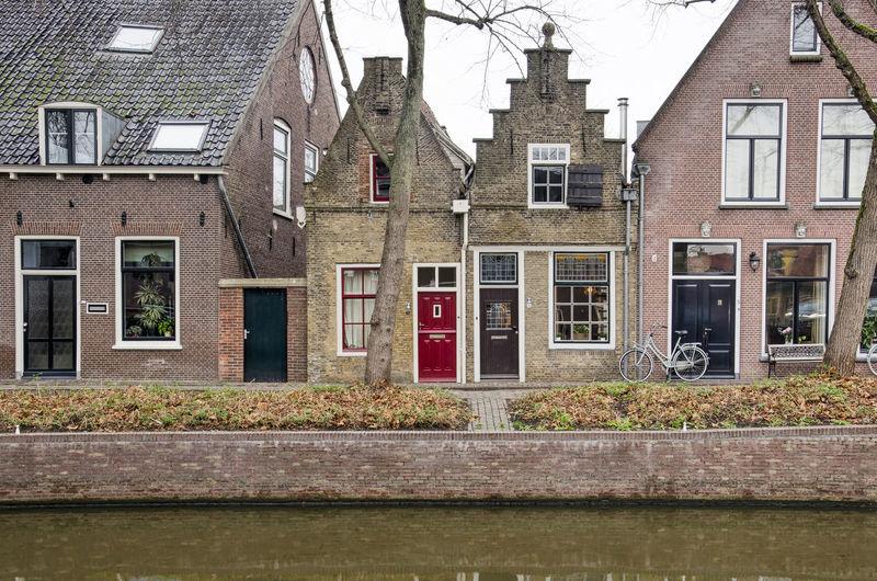 Residential buildings by street