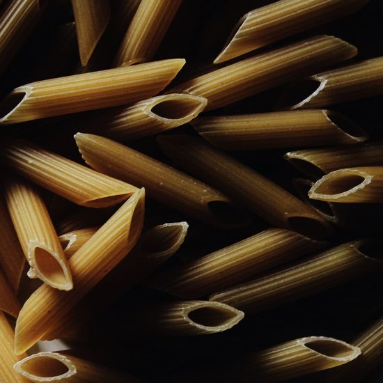 Full frame shot of row pasta