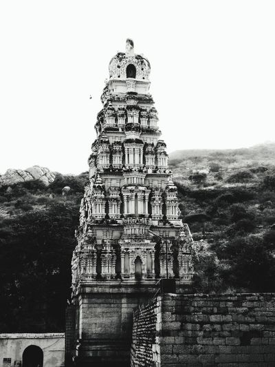 Indian Temples Ancient Remains Indiantemple Temple Architecture Yaganti Rocky Mountains Natural Beauty Blackandwhite Photography Blackandwhite Architecture Built Structure Building Exterior No People Day Outdoors Sky