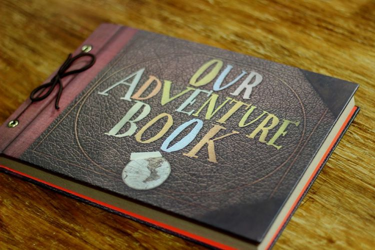 💙 Our Moment Ouradventures Book Up Day Happy Blue Pixar  Movie Time MovieDate History Boyfriend ♡ Oneyear Aniversary Chrismas Time High Angle View Table No People Wood - Material Communication Indoors  Text