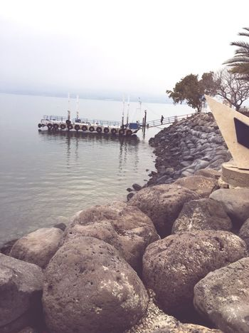 En Gev Sea Water Rock Harbor Horizon Over Water Brigde EbonyOnyx Summer Beauty In Nature Tranquil Scene