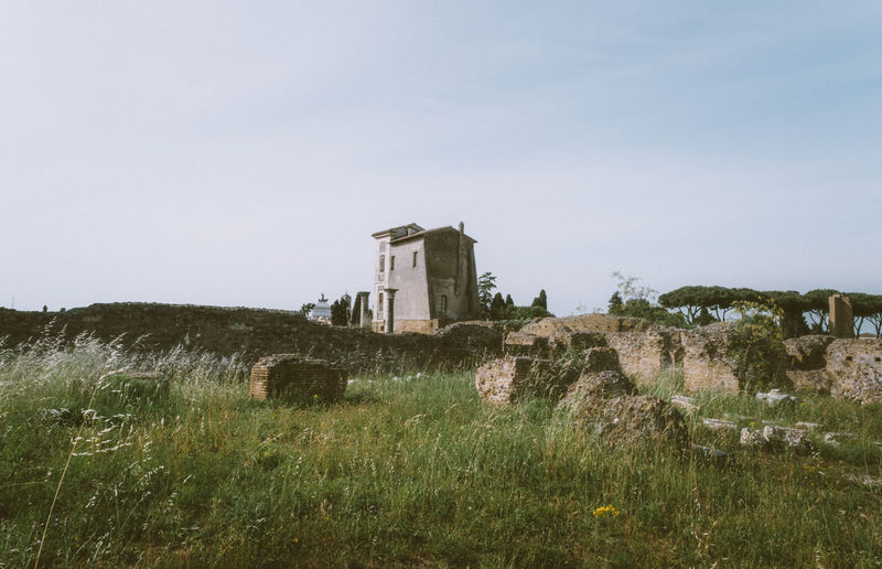 Abandoned Ancient Ancient Civilization Architecture Architecture Blue Sky Day EyeEm Best Shots Grass Green Color History Old Ruin Outdoors Rome Tall Grass The Past Travel Destinations VSCO