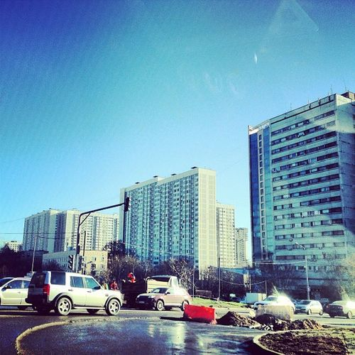 Moscow Sleep Street Sky Sun House Road Traffic Original Ochakovo Photo Antkuz Style Day No Cloud Best