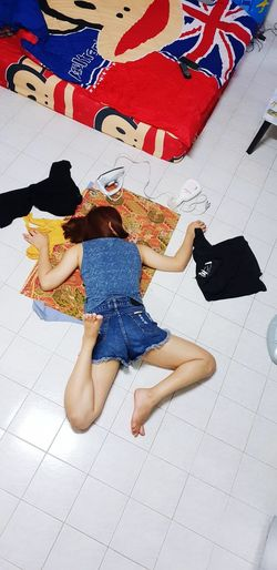Low Section Full Length Women Childhood Lying Down A New Beginning