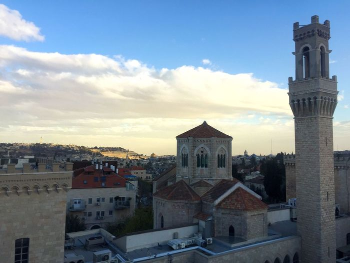 Panoramic view of cathedral against sky