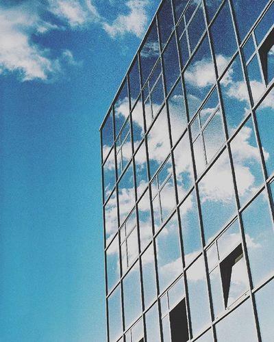 Analog Analoguephotography 35mm Film Filmphotographer Sky Windows Clouds Reflection Cracow Lubiepolske Filmshooters Analogue Fuijfilm Photographer VSCO Photooftheday