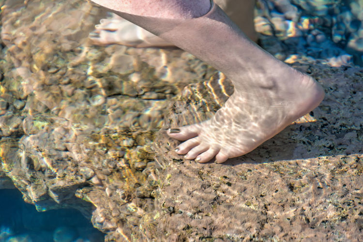barefoot Close-up Day Human Body Part Human Leg Low Section Men Nature One Person Outdoors People Real People Water