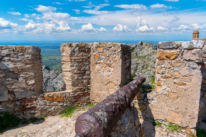 Castelo de Marvão Castle Sky And Clouds Wall Canonphotography Castle Ruin Castle Wall Castle Walls Sky Sky_collection