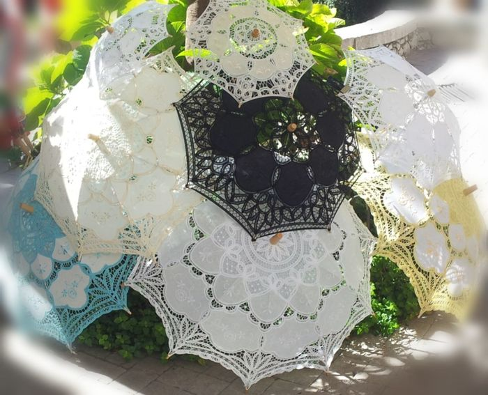 Artesania Sombrillas Sun Paraguas Beauitful Collection Handicraft Sicilia Italy❤️