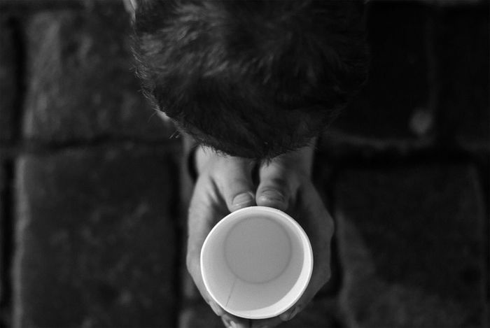 Begger Close-up Coffee - Drink Coffee Cup Cup Day Drink Drinking EyeEm Selects Food And Drink Freshness From Above  Headshot Holding Human Hand Indoors  Lifestyles Men One Person People Pray For Love Real People Refreshment Saucer Women The Photojournalist - 2018 EyeEm Awards