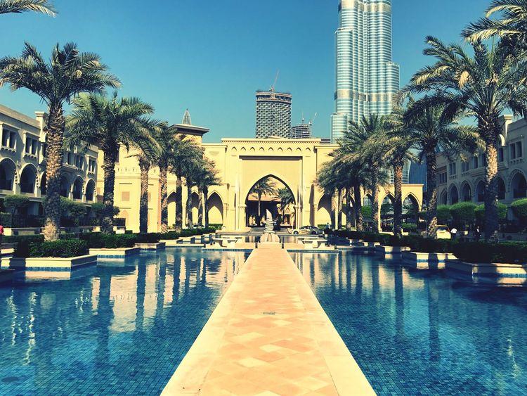 Dubai❤ Palace Downtown Viewpoint Main Entrance Burj Khalifa City View  Fountain Show Connected By Travel