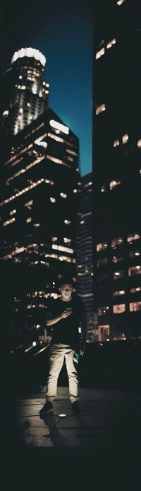 The city is my studio One Person Building Exterior Night Sky The City Light The City Light