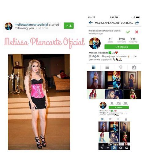 """Muchas Gracias @melissaplancarteoficial por el follow en mi Instagram 💖👌! Saludos @melissaplancarteoficial 🎤💋💕👌! """"La Michoacana """" 💀💋! Gracias ElFollow @melissaplancarteoficial 💖👌 Saludos 💕🙈 Puro Michocan ❤️💀"""