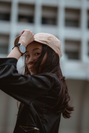 hwee for DW Portrait Portrait Of A Woman Portrait Photography Urban Scene Looking At Camera City Men Portrait Childhood Building Residential Structure Historic Exterior Building Exterior Residential District Architecture