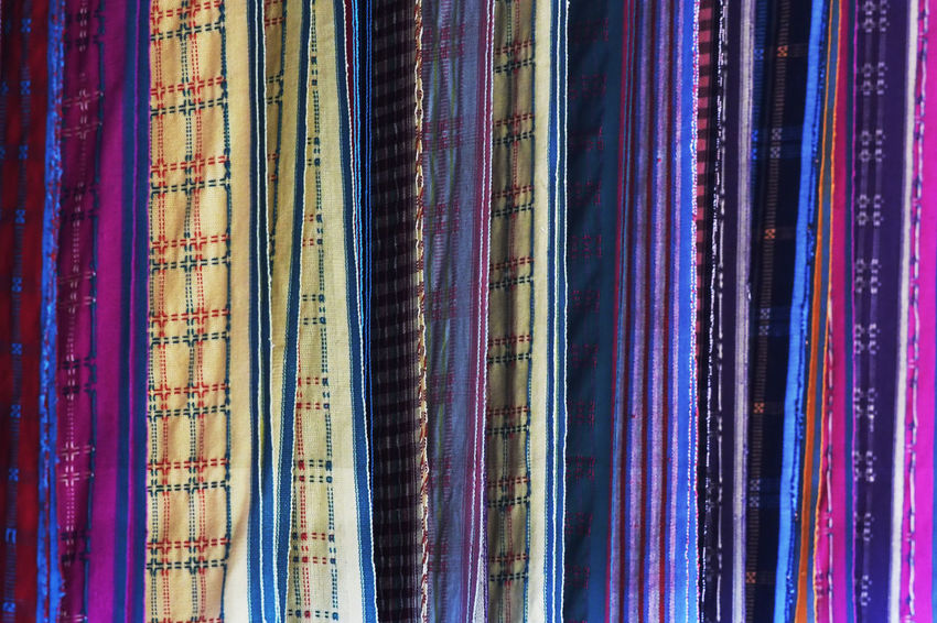 Many tourists who buy weaving Baduy just to be a souvenirs with the traditional reason also has an artistic value. Abstract Photography Colors Tenun Traditional Clothing Abstract Backgrounds Baduy Close-up Day Decorative Full Frame Multi Colored Outdoors Souvenir Textile Woven First Eyeem Photo