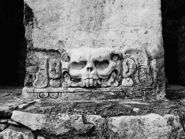 Chiapas, México Ruins Architecture Ancient Civilization Close-up Palenque, Chiapas Skull Face Travel