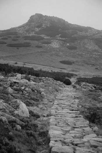 Labsky peak Autumn Hiking Karkonosze Mountain View Sudety Arid Climate Beauty In Nature Black And White Day Giant Mountains Hiking Trail Landscape Mistery Atmosphere Misty Mountains  Misty Peaks Mountain Mountain Peak Nature No People Outdoors Sand Dune Scenics Sky Tranquil Scene Tranquility