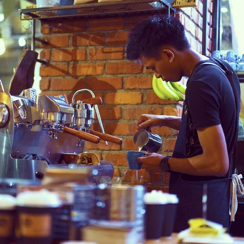 One of the barIsta of The Assembly Ground at work. Theassemblyground Thecathay Orchardroadsg Cafesg
