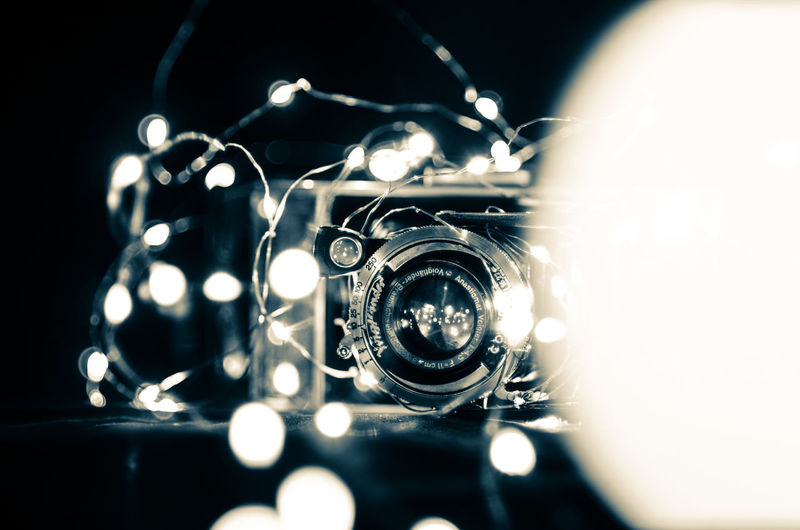 Black Background Camera Camera - Photographic Equipment Close-up Digital Camera Equipment Indoors  Metal Music Musical Instrument No People Photographic Equipment Photographing Photography Themes Retro Styled Selective Focus Single Object Still Life Studio Shot Technology