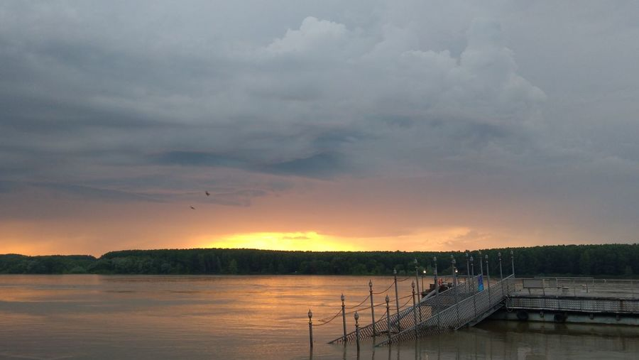 Dramatic sky at