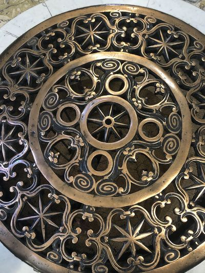 Low angle view of metal wheel